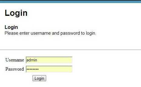 Enter the user ID and password in the Login page