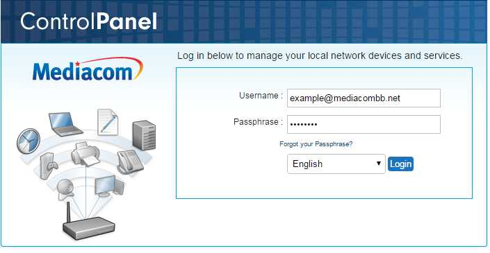 To access the Mediacom Home Network Manager go to this address homewifi mediacomcable com