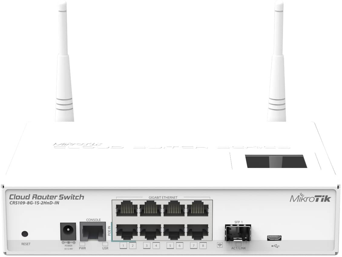 MikroTik CRS109-8G-1S-2HnD-IN Cloud Router Switch