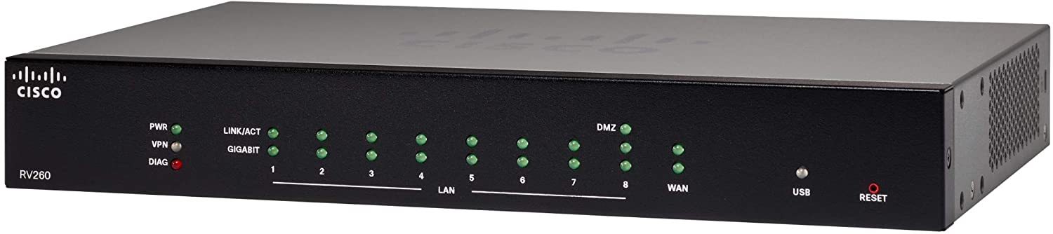 Cisco RV260 VPN Router with 8 Gigabit Ethernet (GbE) Ports
